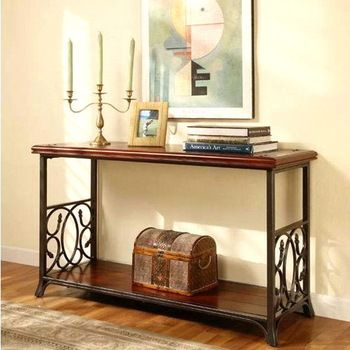 American Country Furniture Wrought Iron Console Table