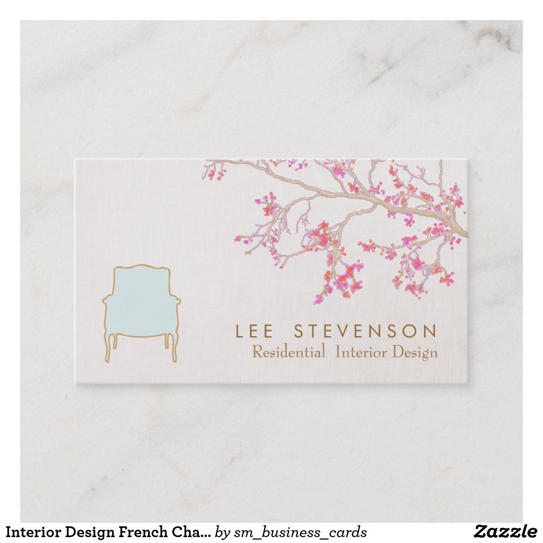 Interior design french chair staging decorator business card elegant shabby chic creative designer custom also rh in pinterest