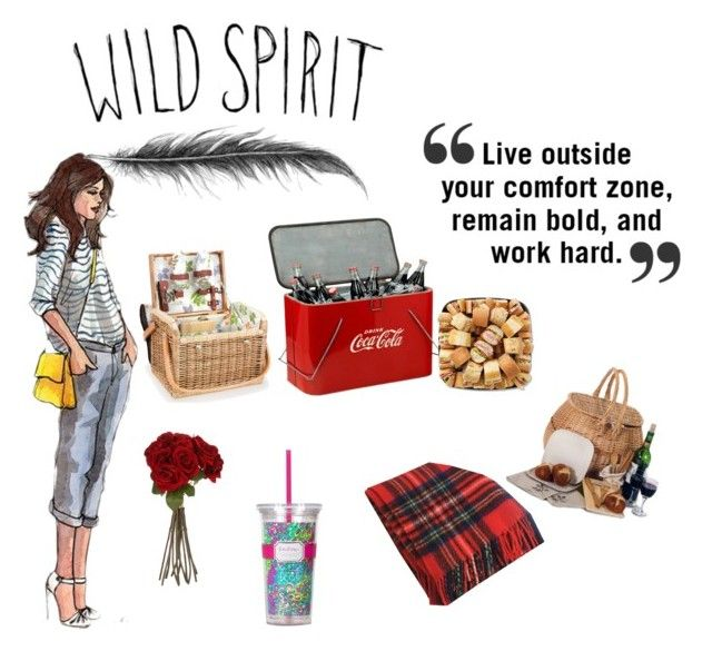 """""""Wild Spirit Picnic"""" by glamourdreamer ❤ liked on Polyvore featuring interior, interiors, interior design, home, home decor, interior decorating, Picnic Time, Sia, Frieda and Lilly Pulitzer"""