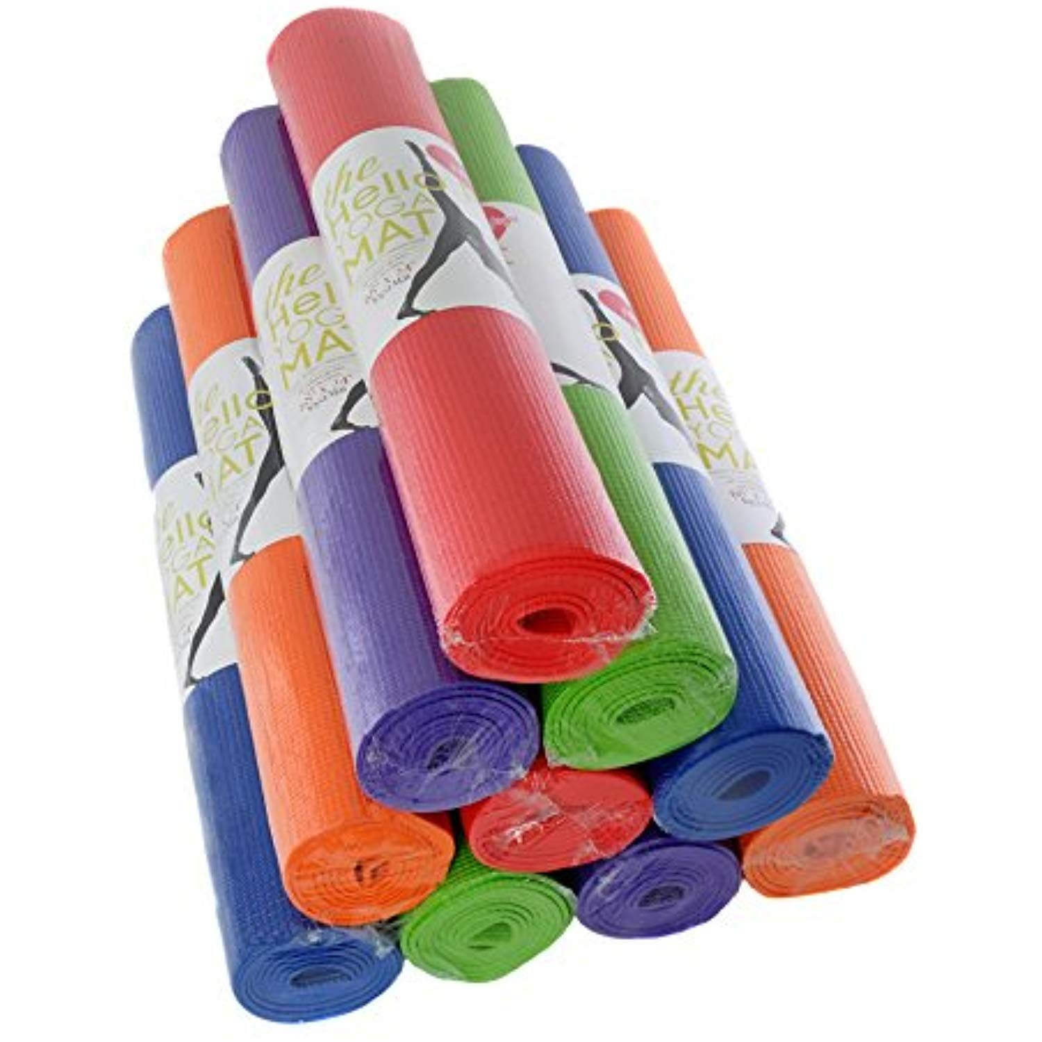 Hello Fit Yoga Mats 68 X 24 X 1 8 4mm 10 Pack Assorted Continue With The Details At The Image Link Yoga Yoga Mats Best Yoga Mat Best Yoga