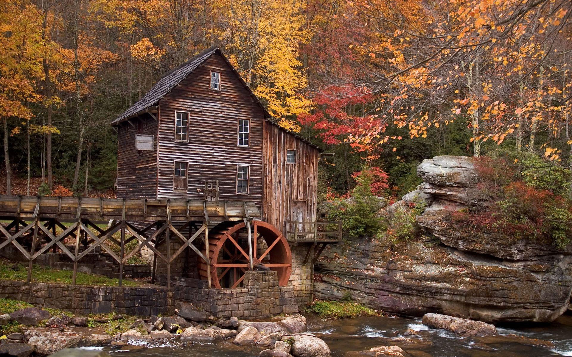 Old Mill. [Desktop wallpaper 1920x1200] Glade creek