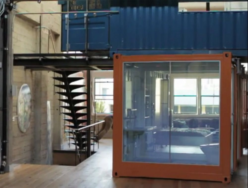 House · Shipping Containers Used Inside A Home, A Beautiful Design