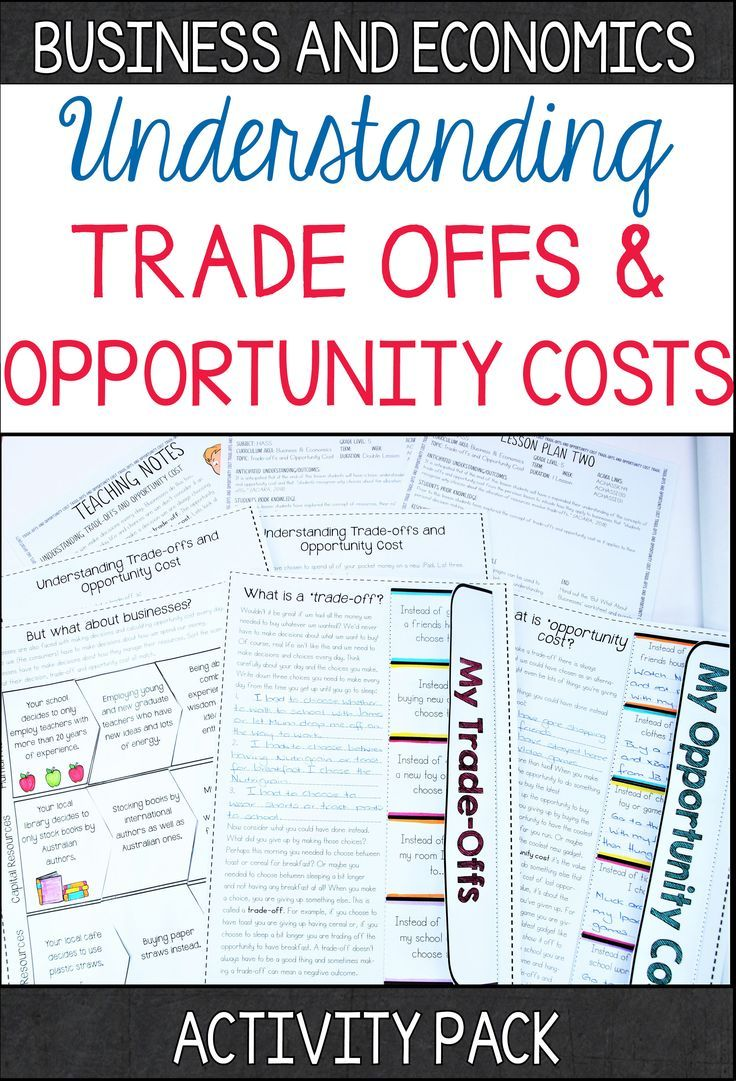 This interactive and handson Tradeoff and Opportunity