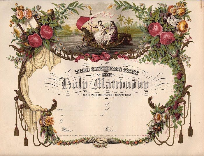 Amazing Victorian Blank Marriage Certificate - marriage certificate template