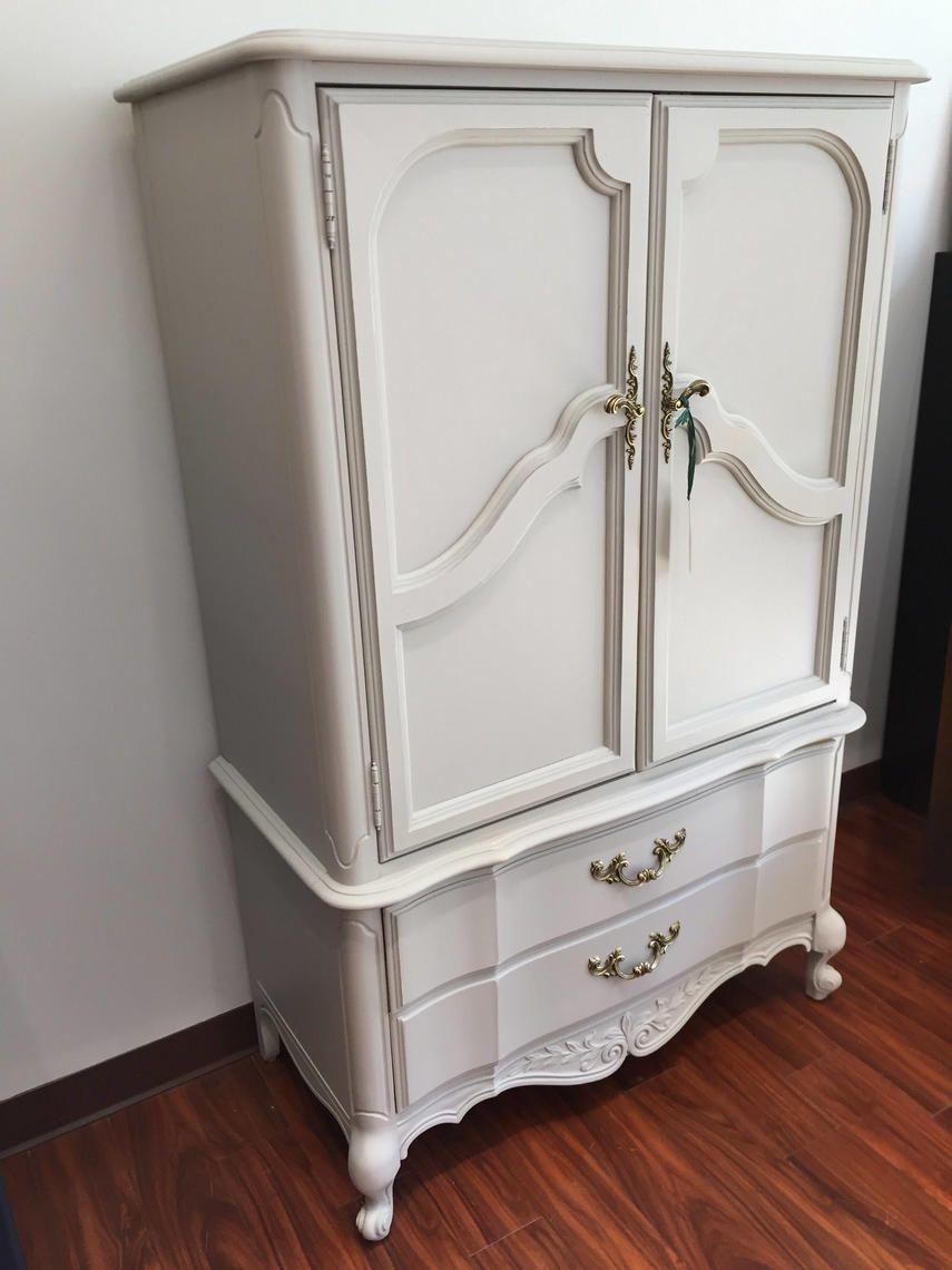 Tall Fog Grey 2 Door 2 Drawer Dresser 7 7 By Stylishpatina 2