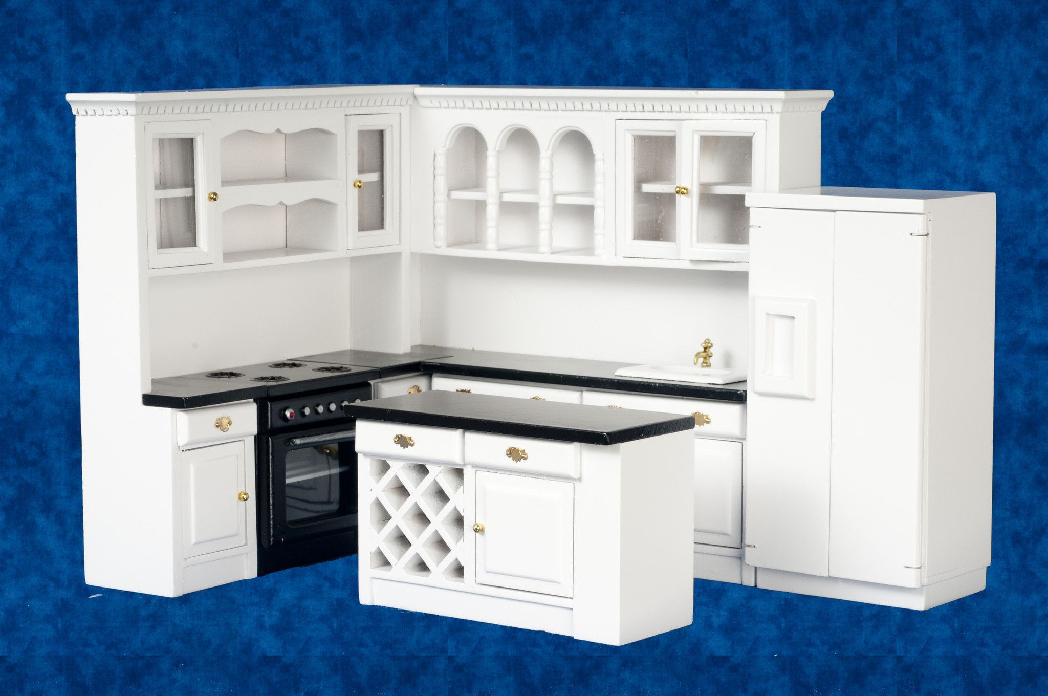 Best 4Pc Kitchen Set White With Black Kitchen Sets 400 x 300