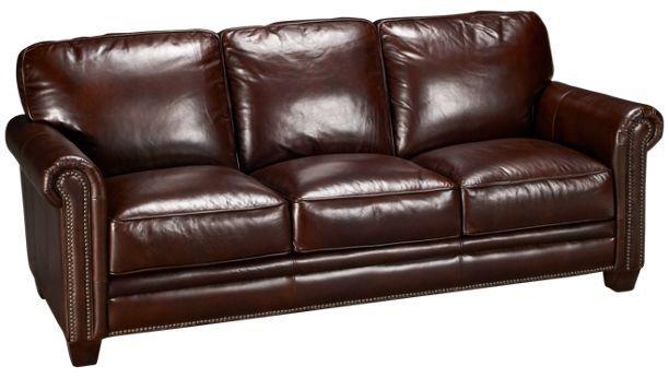 Futura Cordovan Leather Sofa Jordan S Furniture