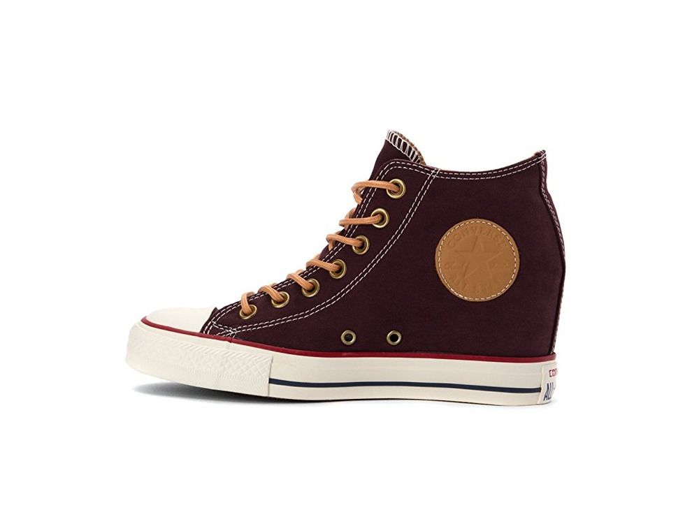 e5d1d59cf146 Converse Chuck Taylor All Star Lux MID Black Cherry Wedge Women s Shoes US  8