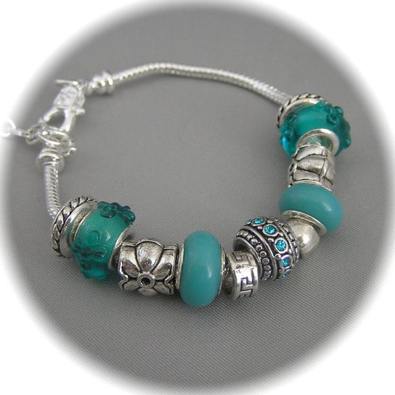 European Bead Jewelry Turquoise  Colored  by WarmWindsDesignsTwo, $14.99