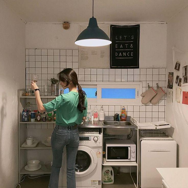 pin by haute s hᴀɴᴅʙᴀɢs on aesthetic korean apartment aesthetic room decor chic bedroom decor on kitchen interior korean id=75682