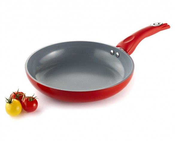 Remy Olivier CERamic FRY PAN 24CM RED Handle - Fry Pans - Cookware