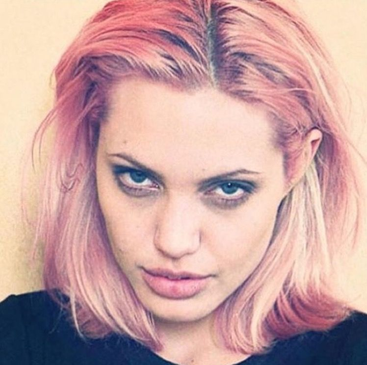 Angelina With Pink Hair About Hair Pink Hair Angelina Jolie
