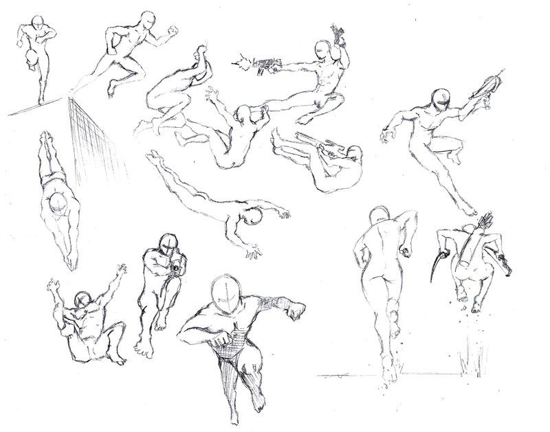 Action poses 4 leaping, diving - 70.8KB
