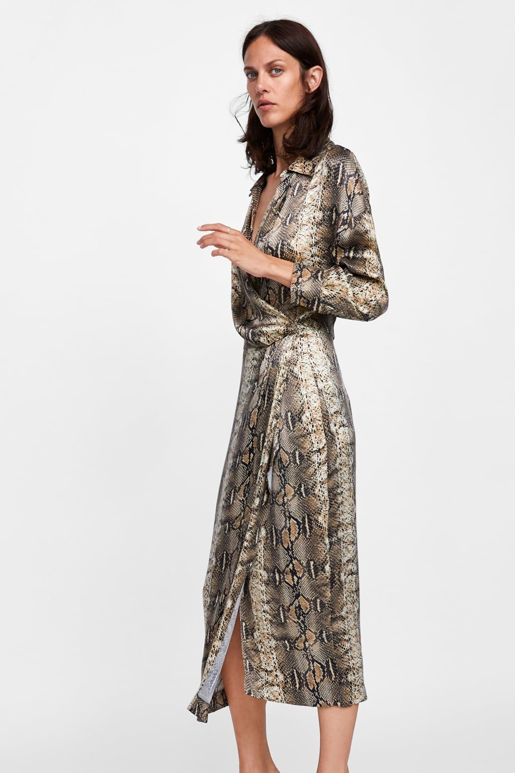 ab381b2a Image 3 of SNAKESKIN PRINTED SHIRT DRESS from Zara | Dress me in ...