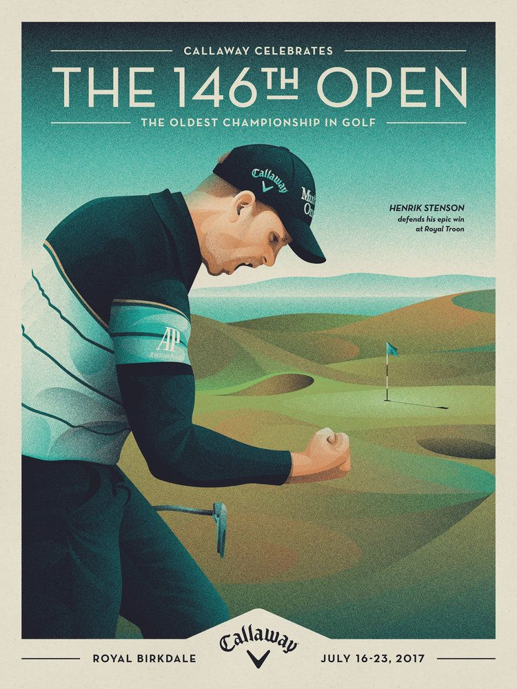 Callaway Open Championship Poster Graphic Design Posters Open Championship Golf Design