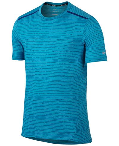 256e4892e2 Nike Men's Dri-FIT Cool Tailwind Printed Running T-Shirt | sports in ...