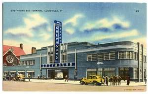 Corner of Broadway & 5th Street. Built 1935, demolished in the 1970's. Previously the Union Bus Station , and before that, the Southern Baptist Theological Seminary ...