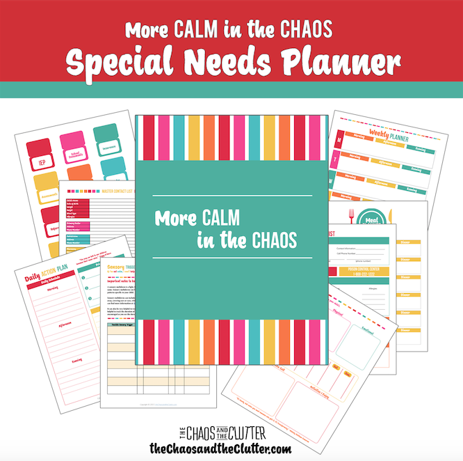 Special Needs Planner Printable A Designed With Moms Of Kids In Mind It Includes Everything You Could Ever Need For