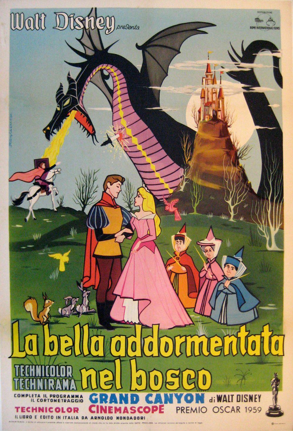 La Bella Addormentata Prima Edizione Italiana Distr Rome Int Film 1959 2 Fogli 100x140 Cm La Bella Addormentata Walt Disney Film Stranieri
