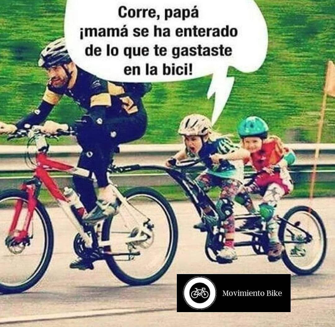 Cuantos No Le Mienten A Su Esposa Sobre Todo Lo Que Gastaron En La Bici Jajajaja Siguenos Frases De Ciclista Bici Ciclismo Ciclismo Motivacion