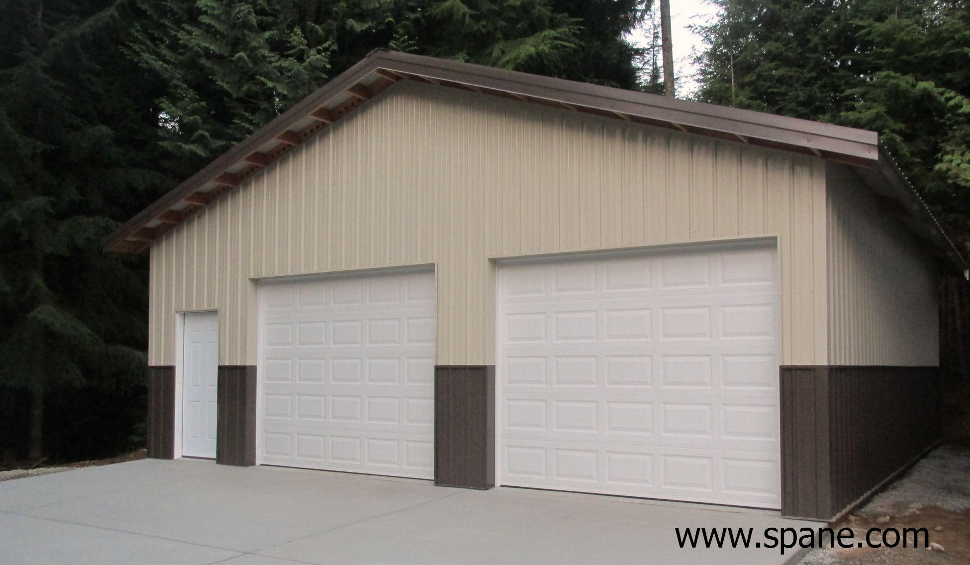 Garage Shop At Lake Cavanaugh Wa Constructed By Spane Buildings Of Mount Vernon Wa Garage Builders Outdoor Structures Garage
