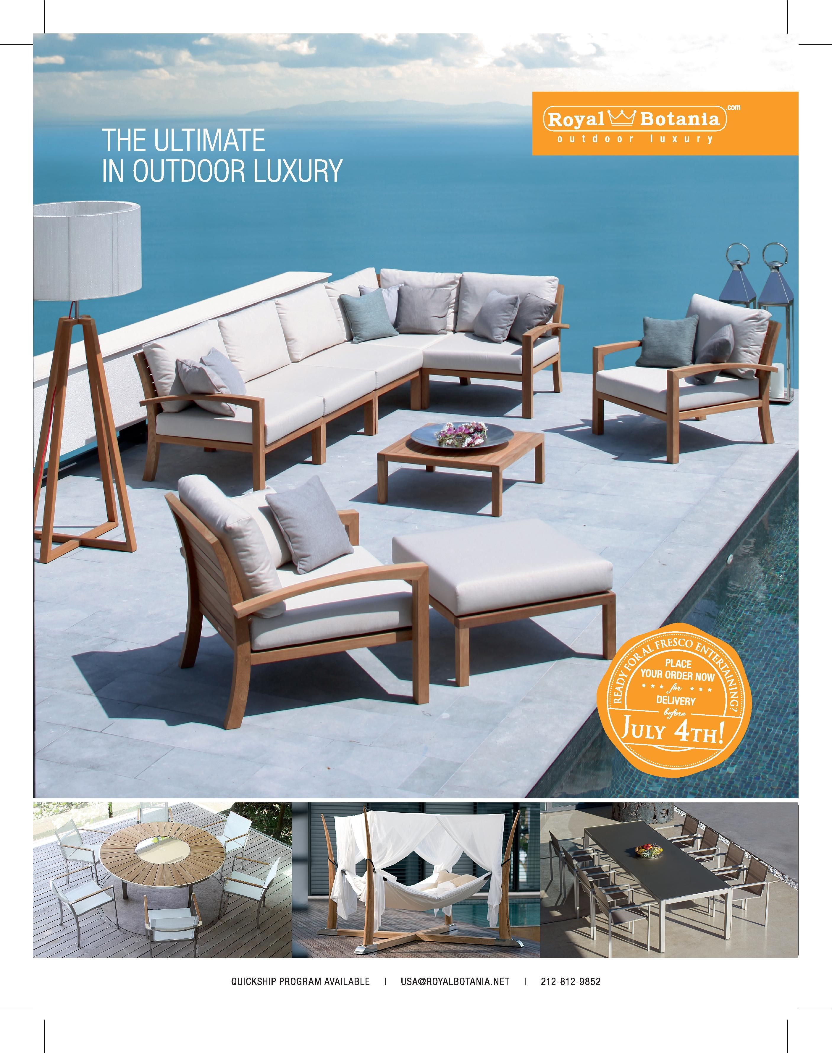 Royal Botania - Ninix Sectional in the Interior Design April Issue ...