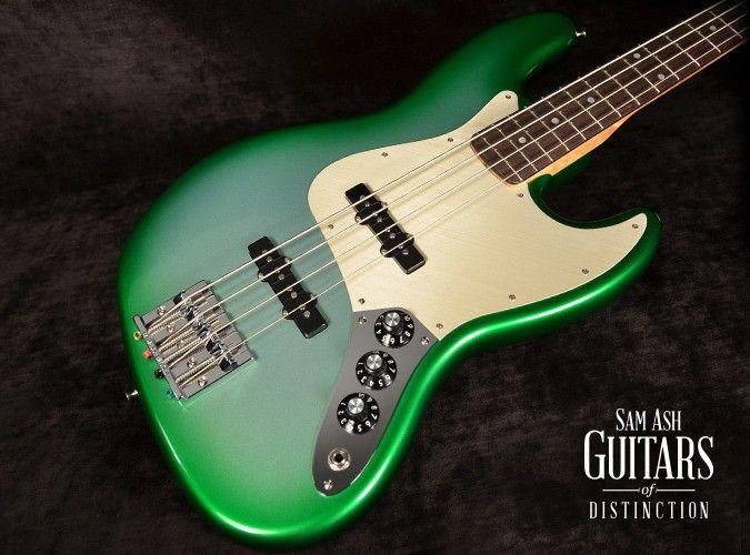 Fender Custom Shop '60s Jazz Bass NOS Sage Green Metallic Burst Master Built by Jason Smith (SN:CZ524289)