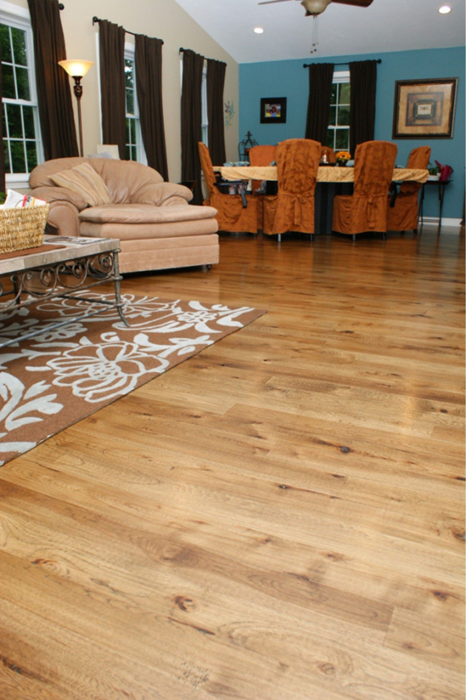 Hickory Wide Plank Flooring  Natural Grade  Hickory Wide