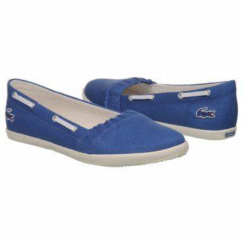 03f661014dc9cc Lacoste Larrose Shoes (Blue White Canvas) - Women s Shoes - 9.0 M ...