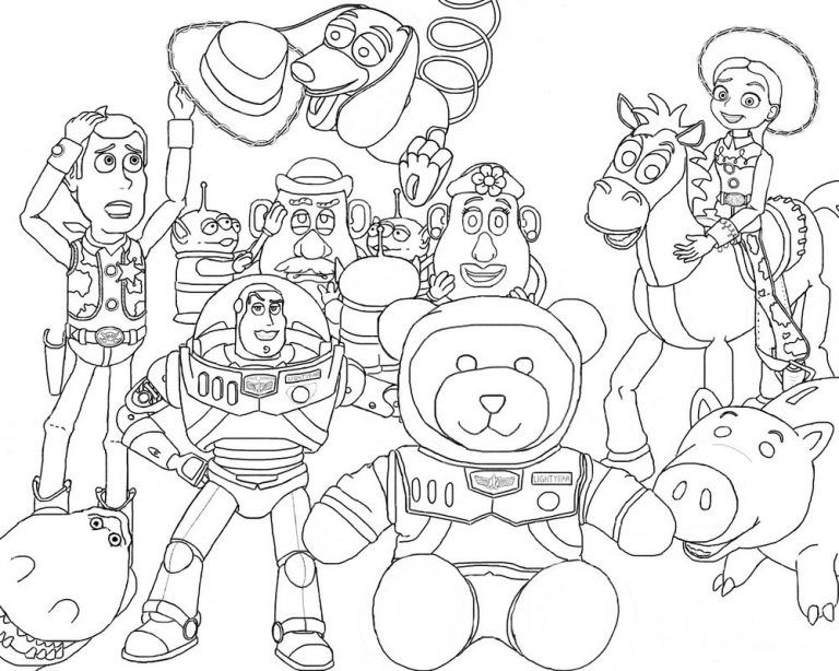 Toy Story 4 Coloring Pages Dibujos Para Colorear Toy Story Para