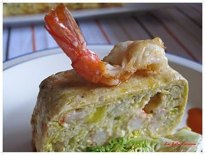 Leek and prawn pie- Pastel de puerros y gambas