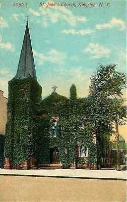 Kingston New York NY 1908 St John's Church Collectible Antique Vintage Postcard