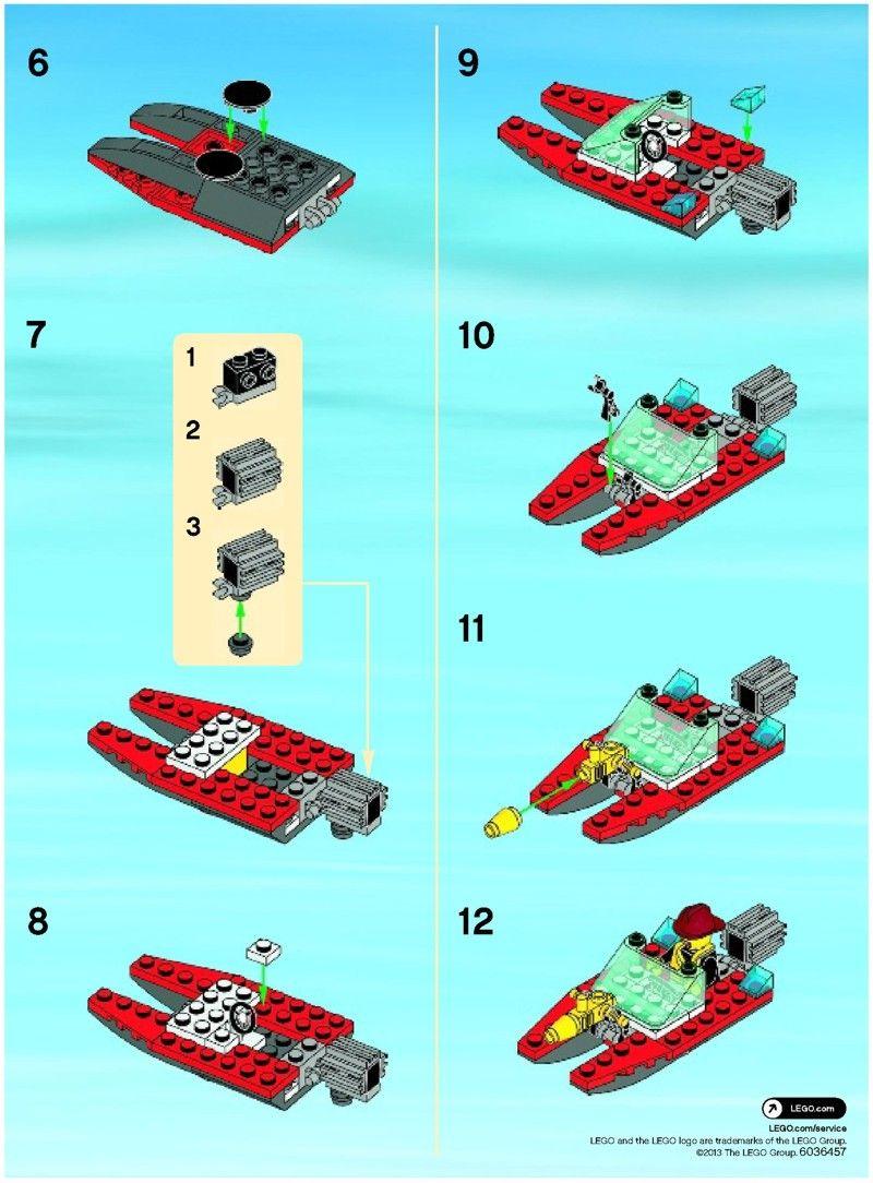 City Fire Speedboat Lego 30220 Griffin Pinterest Lego