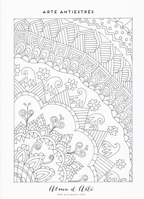 Almu d Arte: 7 Dibujos para colorear antiestrés | Dibujos ...
