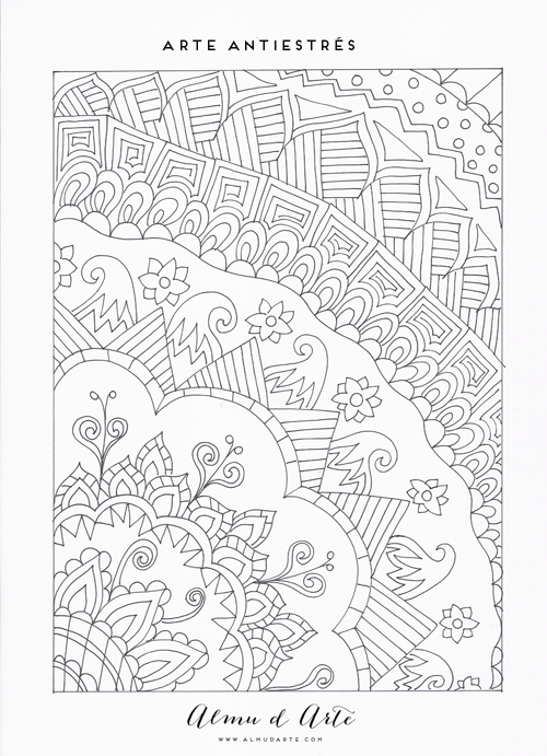 Almu d Arte: 7 Dibujos para colorear antiestrés | Pintar | Pinterest ...