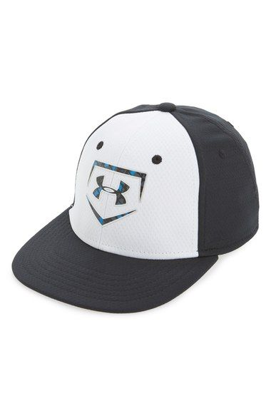 8611deeb417 Under Armour  Baseball Camo  Stretch Fit Baseball Cap (Boys) available at   Nordstrom