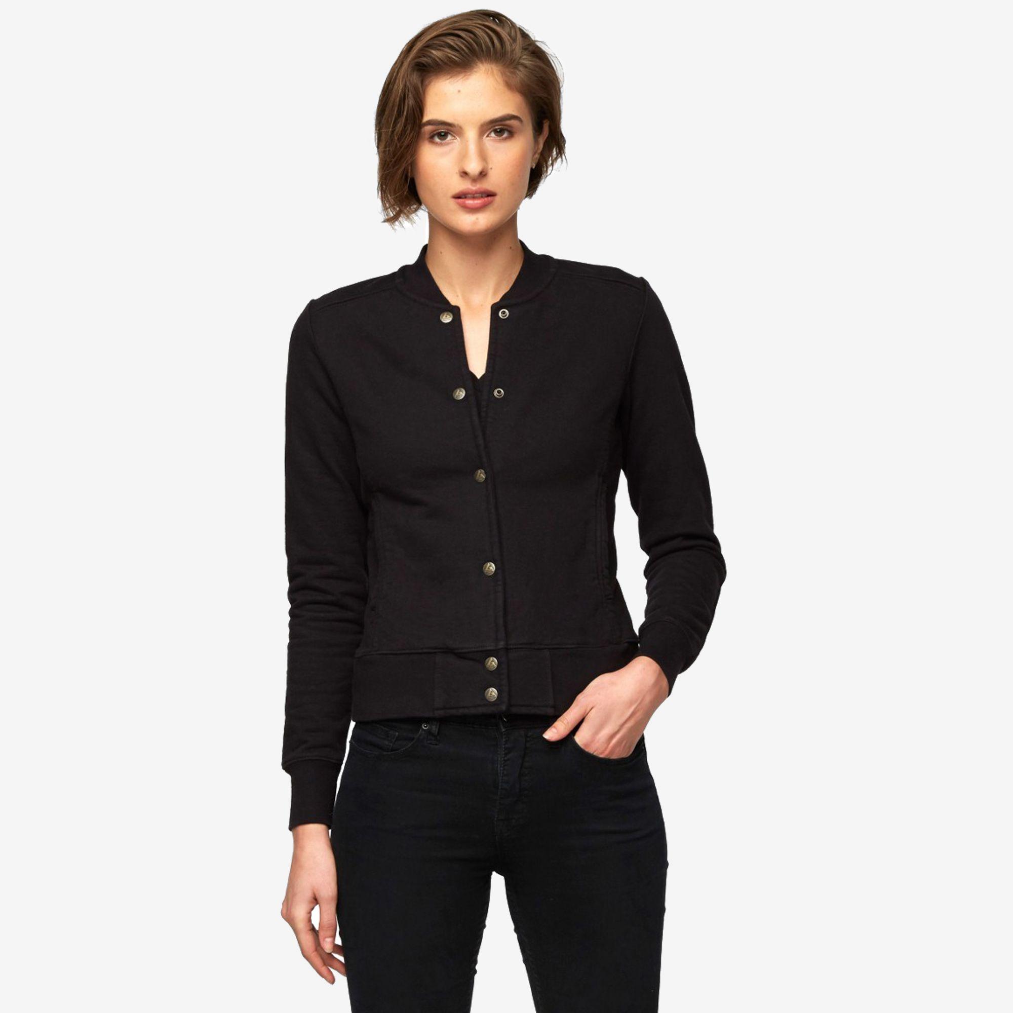 American Giant Classic Baseball Jacket, Black $89 | Fashion ...