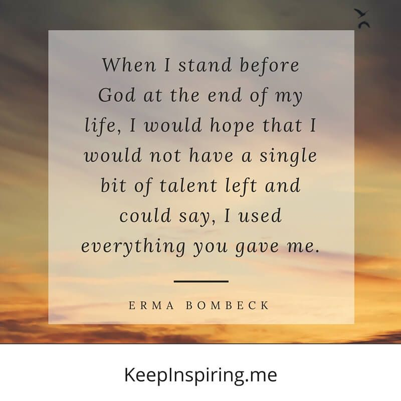 """""""When I stand before God at the end of my life, I would"""