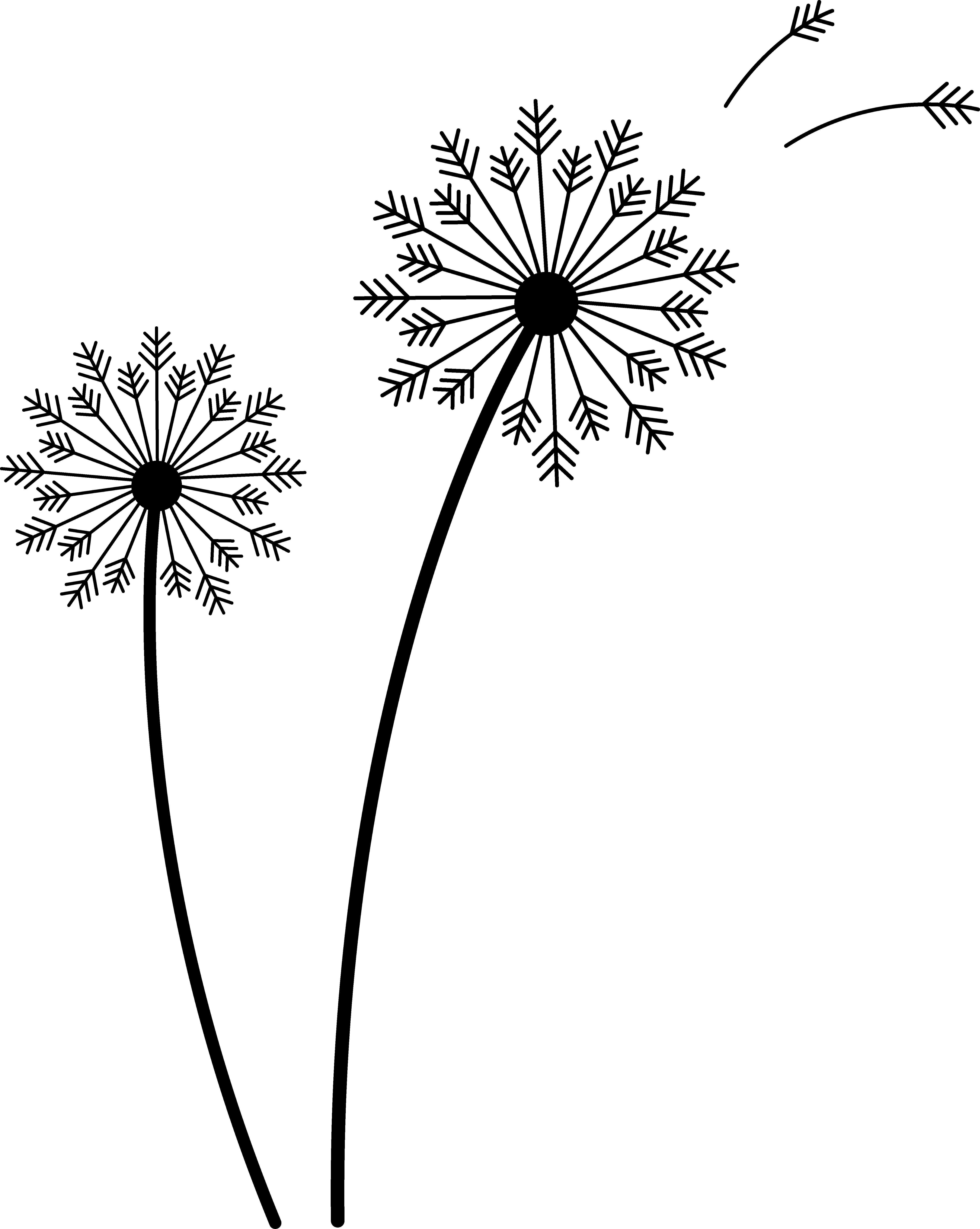 art dandelion Google Search Silhouette clip art, Free