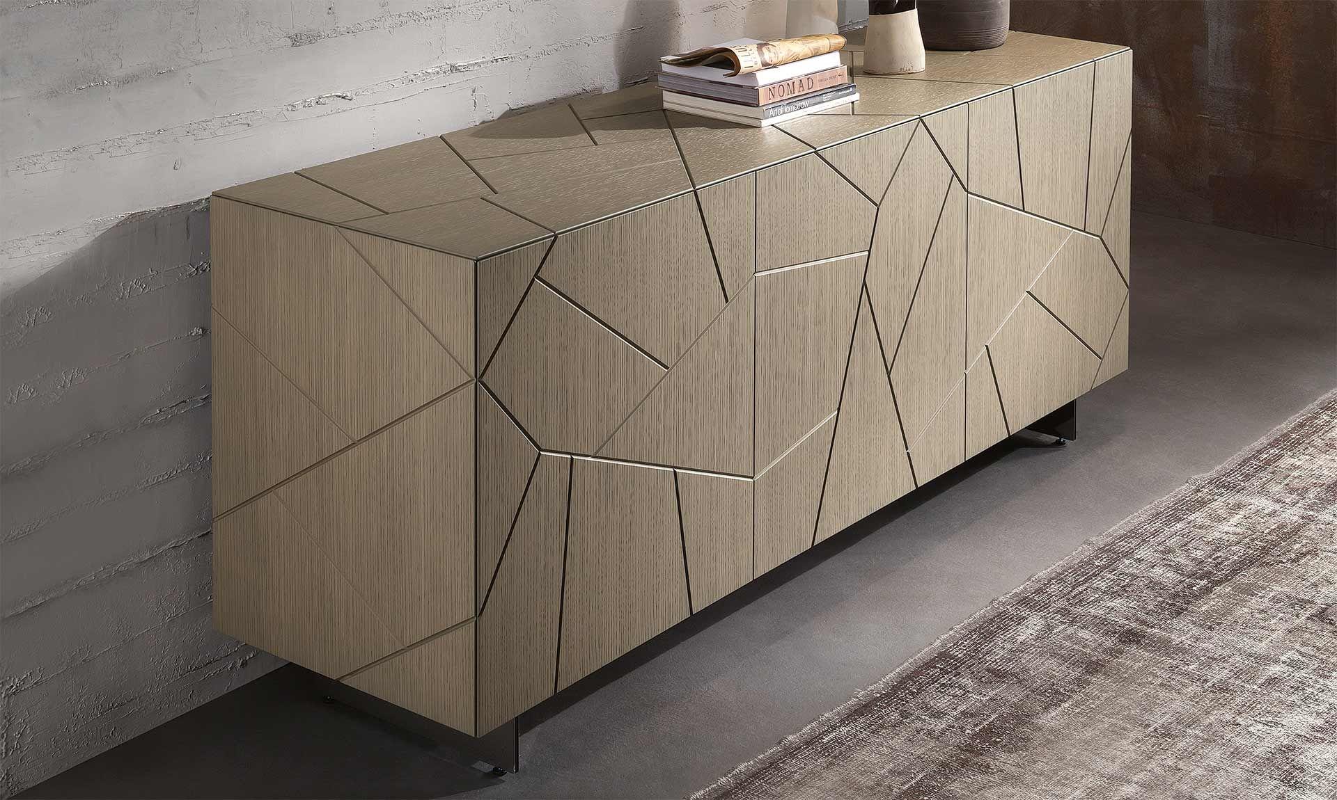 Buffet Design Italien Couleur Cafe Au Lait En 2020 Mobilier Design Idee Deco Appartement Mobilier De Salon