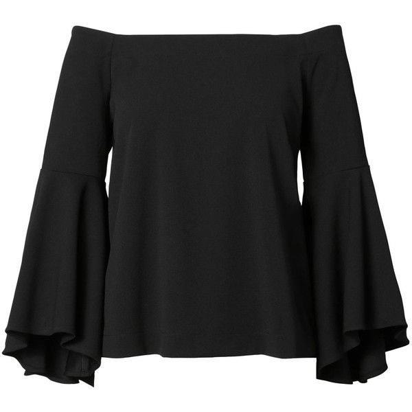 bc5170573cc600 Off-the-Shoulder Bell-Sleeve Top ( 50) ❤ liked on Polyvore featuring tops