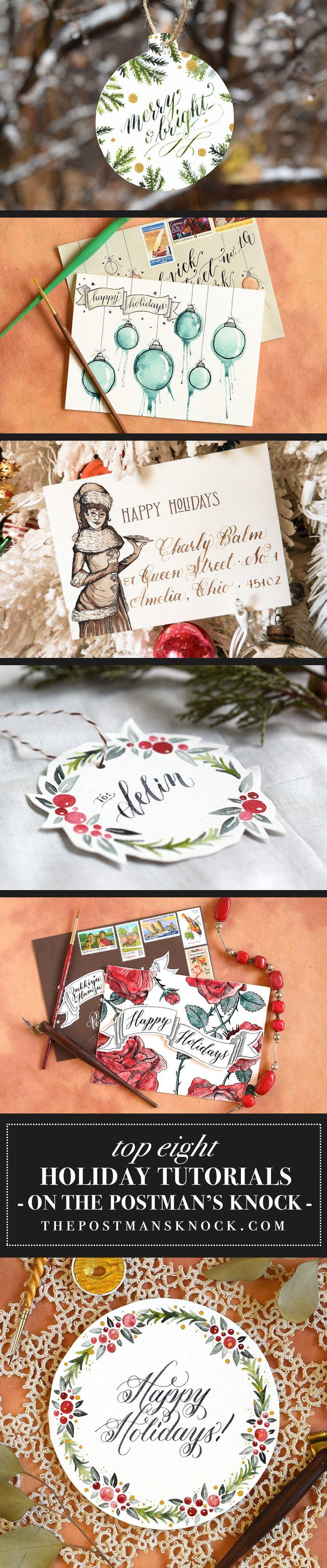 Top 8 TPK Holiday Tutorials | Caligrafía y Navidad