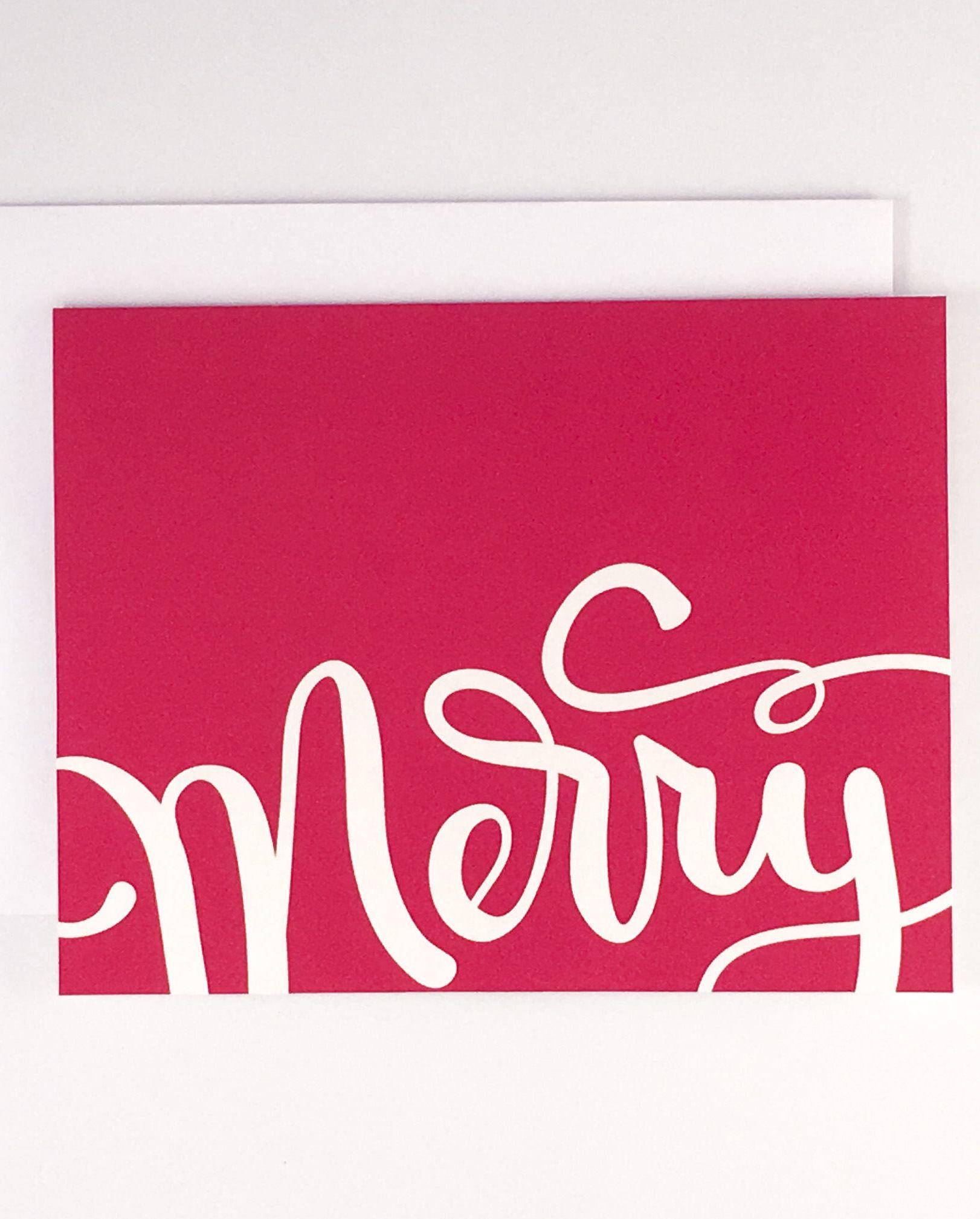 Merry Christmas Card Set, Business Christmas Cards, Christmas Cards ...