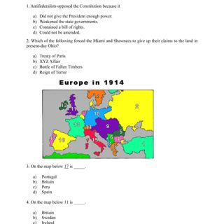 8th Grade Quizzes – History Test Topics 2 of 3 | Homeschool ...