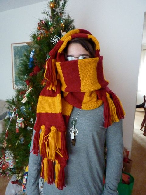 Gryffindor Scarves for B and K by craftylilthing