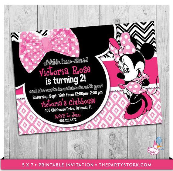 oh twodles birthday minnie invitation minnie mouse second, invitation samples