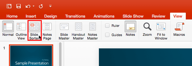 Slide Sorter View In Powerpoint 2016 For Mac Powerpoint Guided Notes Slide