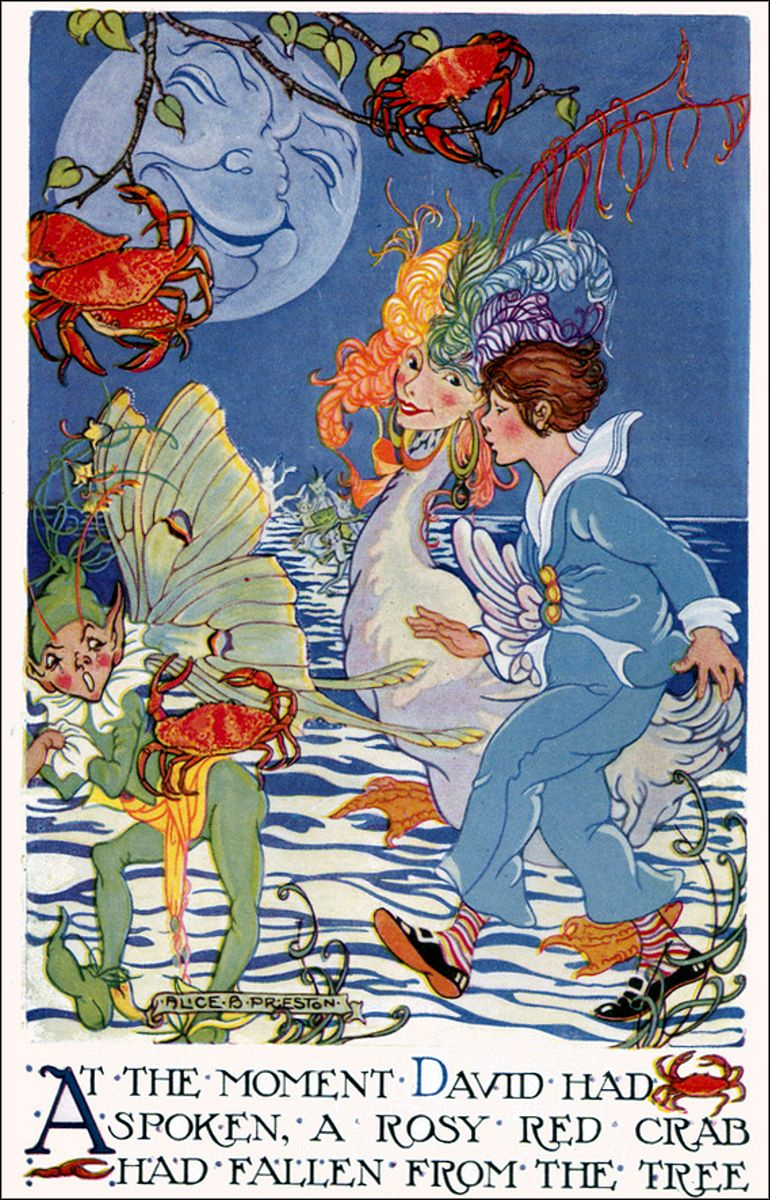 Art by Alice B. Preston (1924) from the book, Valley of Colour Days.