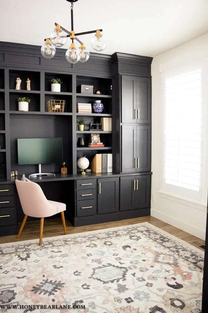 Photo of My Gorgeous DIY Office Built ins Reveal