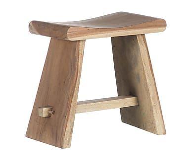 Banqueta en madera de teca Alec | Proyecto banqueta y galán ...